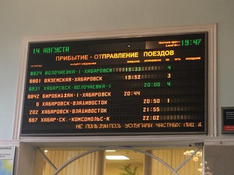 ハバロフスクの時刻表示
