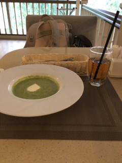カフェで食べたスープ