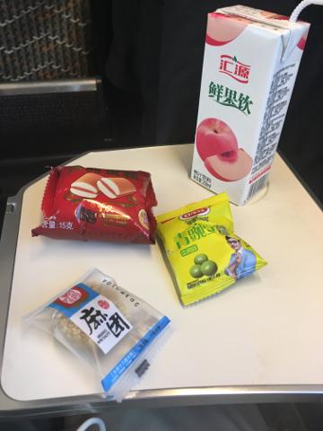 中国新幹線一等席車内食
