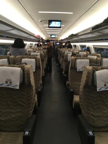 中国新幹線一等席車内