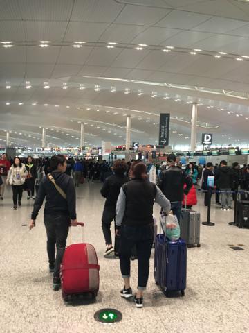南京空港出発フロア
