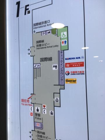 岡山空港国際線ロビー案内図