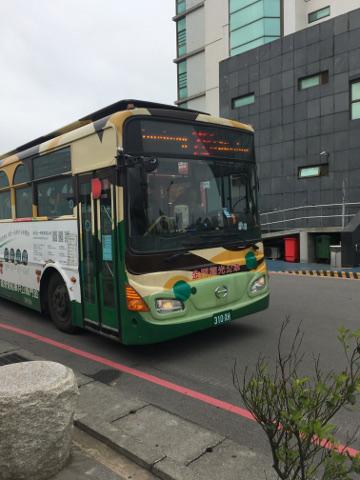 金門島中心部行きのバス