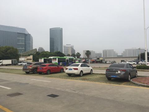 厦門フェリーターミナルの駐車場